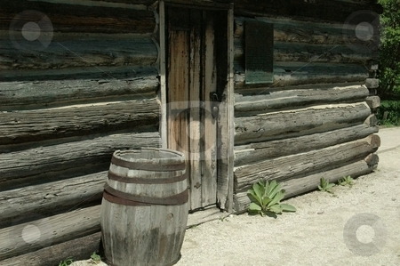Log Home  stock photo, This is in a park near my house. by Joe Shortridge