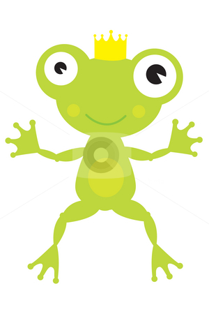 Frog Prince stock photo, Frog Prince leaping by Nancy Dunkerley