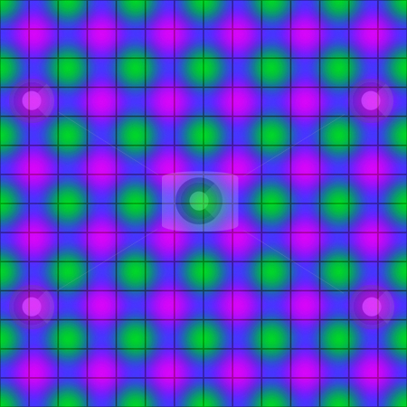 Blur dots pattern stock photo, Seamless texture of pink and green dots on blue background by Wino Evertz