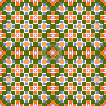Festive square and flower pattern stock photo, Abstract seamless texture with block shapes in pastel colors by Wino Evertz