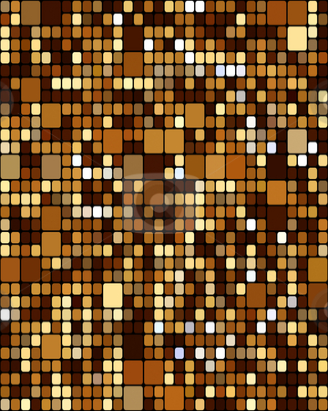 Brown blocks pattern stock photo, Seamless texture of many brown blocks in different sizes by Wino Evertz