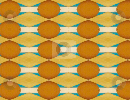 Retro Pattern stock photo, Yellow, gold and blue abstract pattern by Sandra Fann