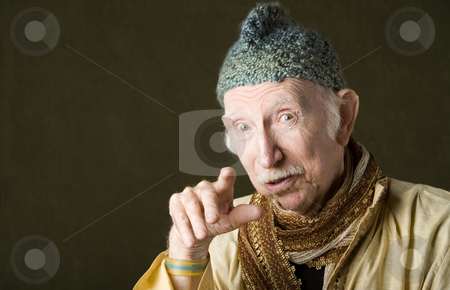 Wise Man stock photo, Portrait of wise guru with knit cap by Scott Griessel
