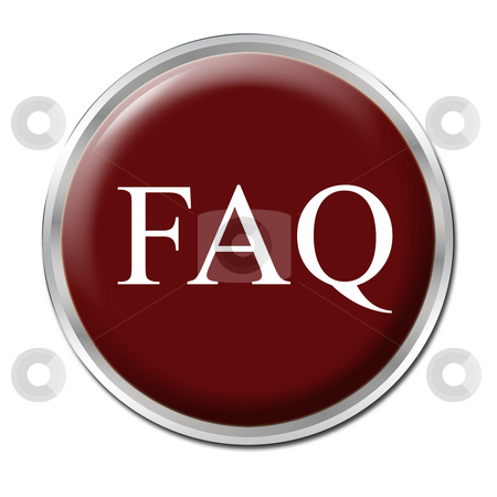FAQ Button stock photo, Isolated round button with the abbreviation FAQ - white background by Petr Koudelka