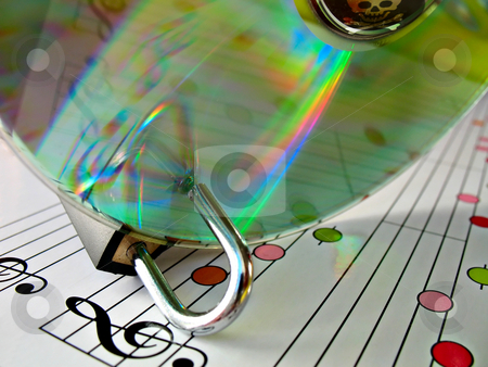 Music piracy protection stock photo, Concept image about music piracy and copyright protection by Roberto Marinello