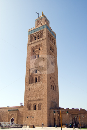 Marrakesh Koutoubia Minaret stock photo, The marvellous Koutoubia Minaret in Marrakesh, Moroc by Roberto Marinello