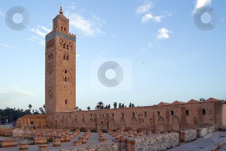Marrakesh Koutoubia Minaret and Mosque stock photo, Koutoubia Minaret and the Mosque in the Marrakesh center, Morocco by Roberto Marinello