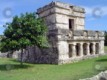Tulum's ruins stock photo, Tulum's mayan ruins, Yucatan, Mexico by Roberto Marinello