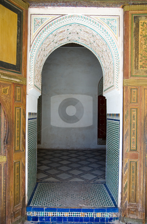 Bahia Palace Marrakesh door stock photo, A door of the Bahia Palace in Marrakesh by Roberto Marinello