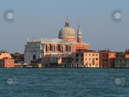Redentore  stock photo, Redentore Church on Giudecca in Venice, viewed from a boat on the lagoon by Casinozack