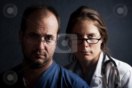 Health Care Professionals stock photo, Portrait of male and female health care professionals by Scott Griessel