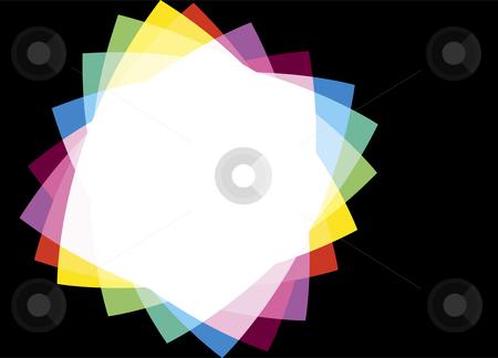 Rainbow Frame on a Black Background stock vector clipart, Rainbow Frame on a Black Background by Adrian Sawvel