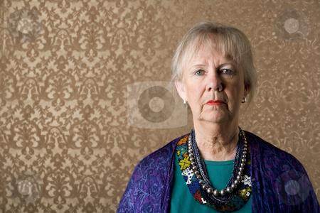 Eccentric Lady stock photo, Closeup Portrait of an Eccentric Senior Lady by Scott Griessel