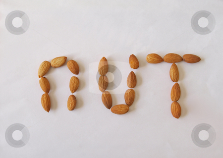 Almond nuts.        stock photo, Close-up of  almond nuts, one of the five a day. used healthy and nuts. by Ian Langley