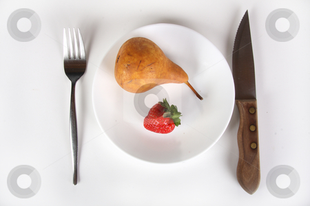 Fruit Dish stock photo, Conceptual fruit diet by R Deron