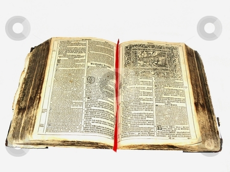Old bible    stock photo, A 300 year old bible, from 1693 in very gut shape, in German. by Horst Petzold