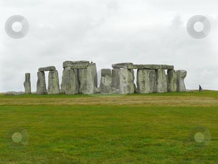Stonehenge under a Grey Sky stock photo, Stonehenge under a grey sky in March, Salisbury Plain, UK by Helen Shorey