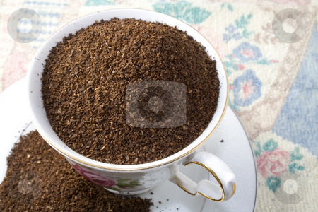 Coffee stock photo, Cup of raw uncooked coffee by Ira J Lyles Jr