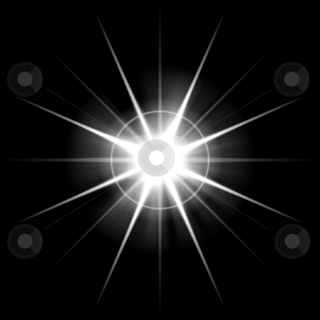 Bursting Lens Flare stock photo, An abstract lens flare. Very bright burst - works great as a background. by Todd Arena