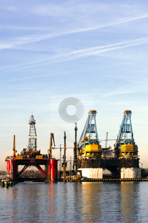 Dry Dock stock photo, Two dry docks, used for ship building by Corepics VOF
