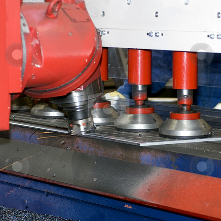 Grinder stock photo, An industrial grinding bench by Corepics VOF