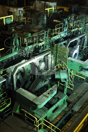 Steel mill stock photo, A huge mill in the production of steel sheet on coil by Corepics VOF