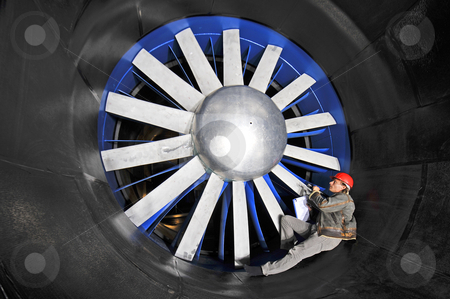 Inspecting a wind tunnel stock photo,  by Corepics VOF