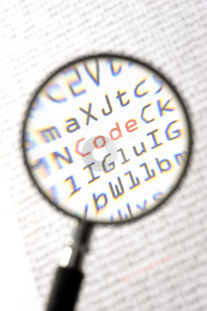 Magnified code stock photo,  by Corepics VOF