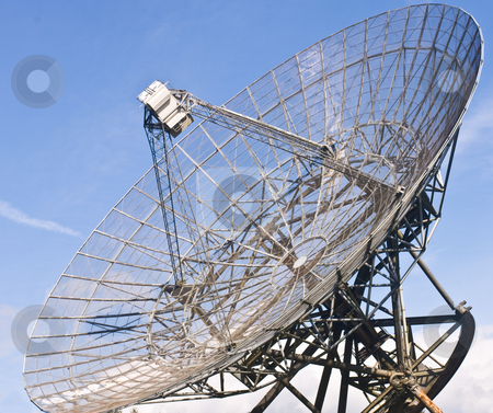 Radio Telescope Dish stock photo, A close-up of the immense satellite dish of a Radio Telescope by Corepics VOF