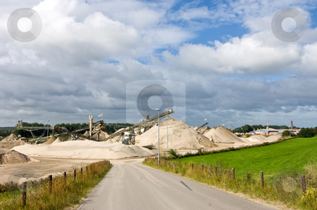 Quarry entrance stock photo, The entrance of a sand and cement quarry by Corepics VOF