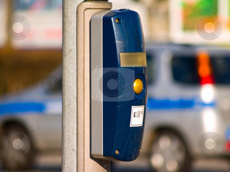 Just push the button - modern traffic objects  stock photo, Just push the button - modern traffic objects by Phillip Dyhr Hobbs