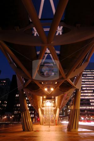 Elevated Tram Tube stock photo, The escalator, leading upto the platforms of an elevated tram tube by Corepics VOF