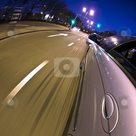 Breaking stock photo, A car hitting the breaks as the vehicle in front refuses to speed up after the traffic light turned green by Corepics VOF