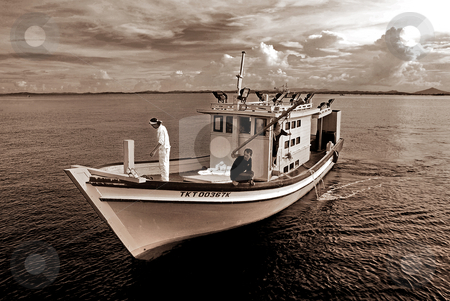 Fisherman Boat stock photo,  by Norazshahir Razali