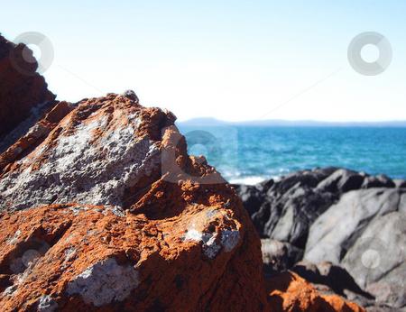 Rusty Rocks stock photo,  by Stephen Kerin