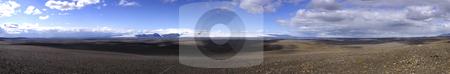 Volcanic desert landscape stock photo, The vast volcanic landscape around the Langjokull glacier in Iceland by Corepics VOF
