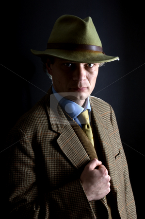 Classic private investigator stock photo, A classic archetype image of a '60's private investigator by Corepics VOF