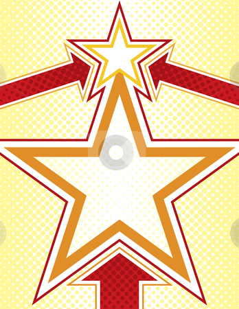 Star Background stock vector clipart, Star Background with Halftone Elements and Arrows by Adrian Sawvel