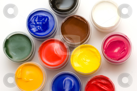 Gouache paint stock photo, Gouache paint by Andrey Butenko