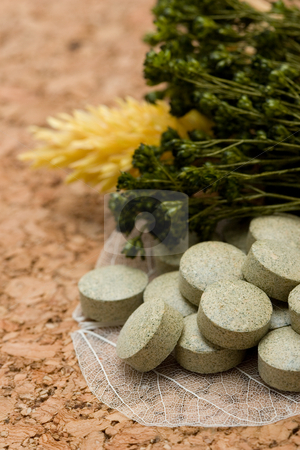 Herbal tablets stock photo, Herbal tablets by Andrey Butenko