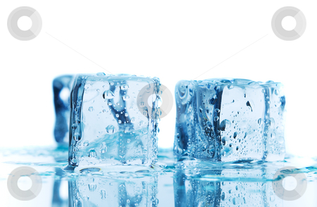 Blue melt stock photo, A macro shot of blue ice melting by Steve Mcsweeny