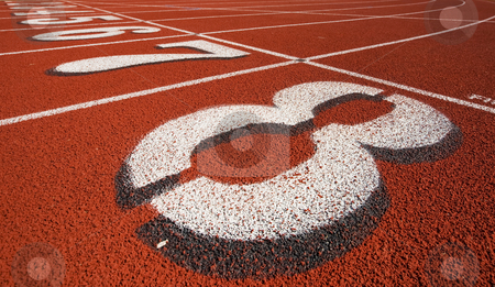 Track background stock photo, The starting line at a race track by Steve Mcsweeny