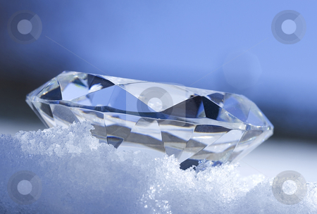 Ice stock photo, Diamond sitting in snow by Steve Mcsweeny