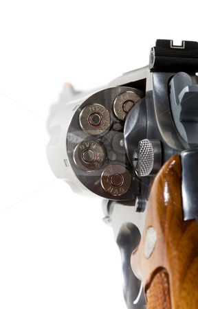 Revolver stock photo, A 357 magnum revolver  isolated on white by Steve Mcsweeny