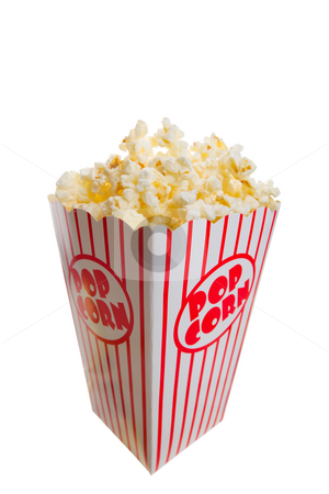 Popcorn stock photo, A tall classic box of theater popcorn by Steve Mcsweeny