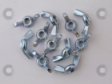 6mm wing nuts          stock photo, 6mm wing nuts use in assembly for easy release. by Ian Langley