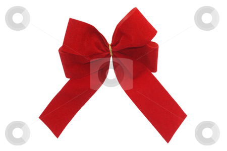 Red gift ribbon stock photo, Red gift ribbon isolated on white background by Birgit Reitz-Hofmann