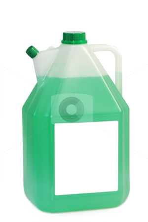 Canister stock photo, Plastic canister on the white background. by Birgit Reitz-Hofmann