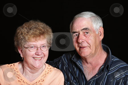 Senior Couple stock photo, Portrait of a senior couple in their mid to late sixties. by Brenda Carson