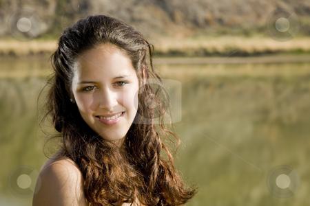Natural Woman stock photo, A naturally beautiful, mixed-race girl in natural surroundings. by Brenda Carson